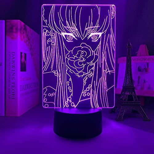 Anime 3D Code Geass CC per la decorazione della camera da letto Nightlight Regalo di compleanno Manga Code Geass Led Night Light Comodino