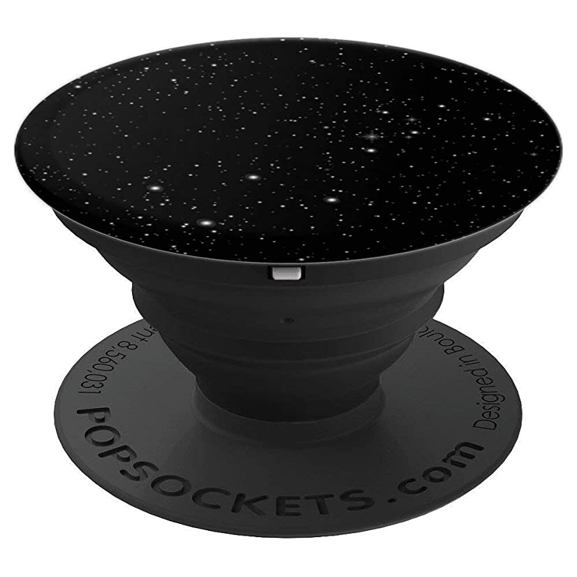 Speckled Black White Night Galaxy Star Gazing Sky - PopSockets Grip and Stand for Phones and Tablets