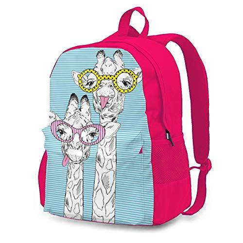 Jirafa en gafas de moda mochila de ciclismo al aire libre capacidad...