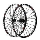 ZHENHZ Juego de Ruedas de Bicicleta 26/27.5/29'Juego de Ruedas de Bicicleta de Montaña Aleación de Aluminio de Doble Pared Llanta MTB Ruedas de Ciclismo,B,29'