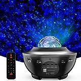 Proyector de Luz Estelar, 2 en 1 LED Cambiar Color Reproductor de Música con Bluetooth Temporizador, Lámpara Luces Nocturnas de Nebulosa Giratorio con Control Remoto, Niños/Decoración/Regalo