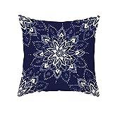 Tamengi Mandala almohadas decorativas de algodón y lino estilo behemia funda de cojín cojines para sofá decoración del hogar 45,7 x 45,7 cm