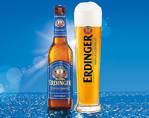 Erdinger Non-Alcoholic Malt Beer, 11.2 fl oz (24 Glass Bottles)