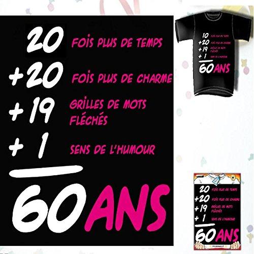 T-Shirt Anniversaire Addiction 60 Ans Femme