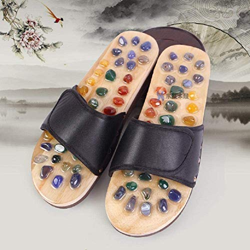 XHDMJ Portable Foot Acupoints Natural Natural Agate Massage Slippers Foot Massage Foot Massage Home Sandals, 36