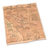 Bristol Novelty BA997 - Mapa del tesoro pirata, unisex, adulto, talla única