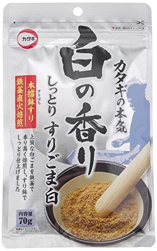 カタギ食品 カタギのすりごま 白の香り 70g ×10袋