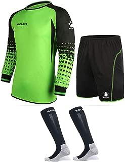 Goalkeeper Shirt Uniform Bundle - Includes Jersey, Shorts & Socks - Protection Pads on Shorts & Shirt - Kids and Adult Sizes