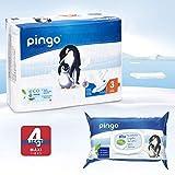 Pack descubrimiento pañales ecológicos pingo + toallitas (Talla 3 (4-9 kg))