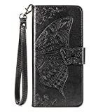 JZ Butterfly & Flower Funda For para ASUS Zenfone MAX Pro (M2) ZB631KL Embossed Series Wallet Flip...