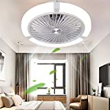 N / A Ceiling Fan with Remote Control Dimmable LED Interior Lighting, 48W LED Ceiling Light 3 Speeds and Timer, 7 Fan Blades Ceiling Fans with Lighting