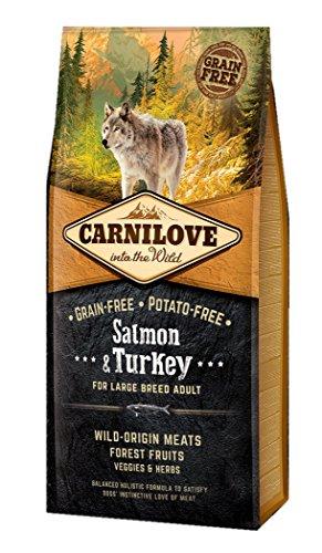12 KG Carnilove salmon/turkey adult large breed hondenvoer