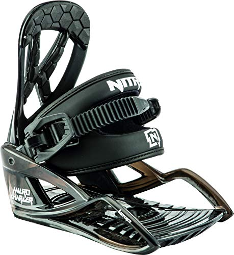 Nitro Snowboards Charger Micro Snowboard Bindung Unisex Kinder Black, XS