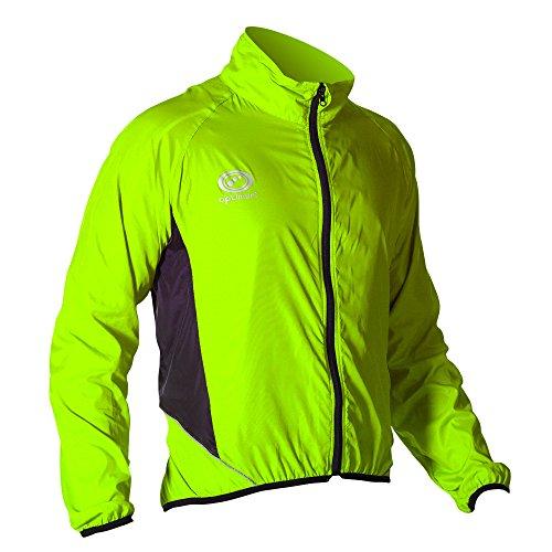 Optimum heren wielersport blinder Passagier jas - groen, medium