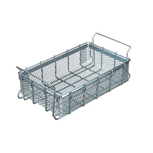 Marlin Steel Expanded Metal Tote Basket, Plain Steel, Zinc Plated (16