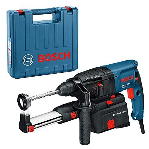 Bosch Professional Bohrhammer GBH 2-23 REA (mit Absaugung (integriert, abnehmbar), Zusatzhandgriff, Koffer)
