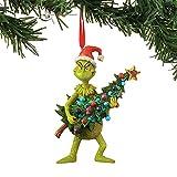 Adorno De Navidad De Bienvenida De Grinch Feliz Navidad De Grinch con Corazón 2022 Adornos De Feliz Navidad para árbol, Familia, Amigo, Decoración De Ambiente Navideño (B)