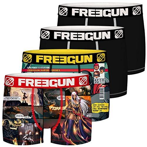 Freegun Herren COMIC FG/AM/1/PK4 Unterwäsche, P7, XXL (4er Pack)
