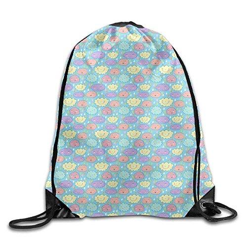 Etryrt Turnbeutel/Bedruckte Sportbeutel, Premium Drawstring Gym Bag, Cute Clouds Cool Teens Drawstring Backpack Lightweight String Bags Gym