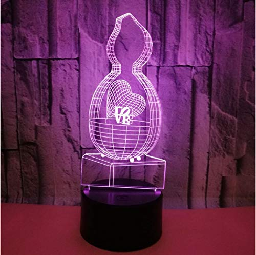 Creative Love Love 3D Petite Lampe Petite Nuit Lampe Chambre De Chevet Cadeau Romantique Sept Couleur Touch 3D Usb Led Lumière