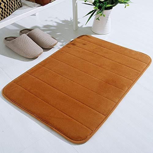 HSKB keukenloper, antislip deurmat voor de badkamer, badmat, tapijt douchemat bont bos memory foam mat tapijt keuken deur mat (40 x 60 cm)