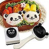 Hebudy - Stampino per riso, accessori per bento e sushi, motivo cartone animato, per pranzo fai da te, 2 pezzi