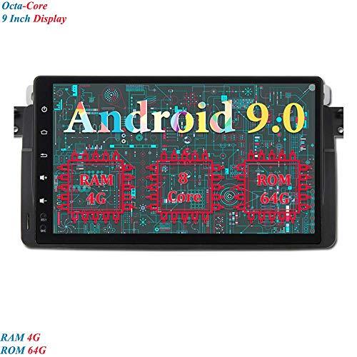 9 Pollici Android 9.0 Autoradio 8-Core RAM 4G ROM 64G In-dash Car Radio Schermo di Tocco Navigatore GPS per BMW 3 Series-E46/ BMW M3 (Autoradio)