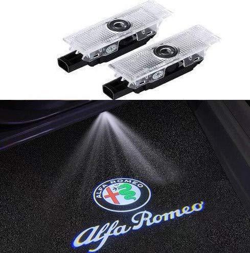 Duleutgnu 2pcs Autotürbeleuchtung Willkommenslogo Ghost Shadow Definition Autodekoration LED Autotüren Eingangslichter 3D Emblem Lampe
