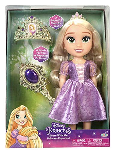 Disney Princess Share with Me Rapunzel 14' Inch Doll with Tiara and Brush