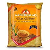 Aashirvaad Atta with Multigrains, Whole Wheat Flour with Multigrains, Wheat, Soya, Chick Pea, Maize, Psyllium Husk, Enduring Value, Product of India (4lb)