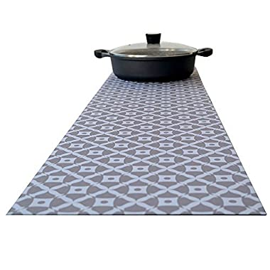 Hotrun Decorative Trivet and Kitchen Table Runners Handles Heat Up To 356F, Anti Slip, Hand Washable, and Convenient for Hot Dishes and Pots,Hand Washable