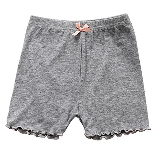 fregthf Pantalones Pantalones Cortos niñas Danza Transpirable Vestido Bajo la Seguridad a Corto elástico Caliente Dancewear Calzoncillos Gris 130cm