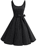 bbonlinedress donna vestiti vestito 1950 festa cocktail vintage rockabilly black white dot xs