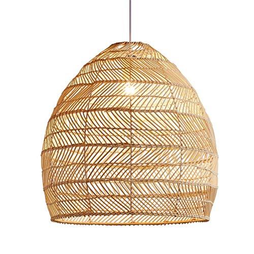 Aiglen Lámpara de araña de Arte de ratán Creativo Rural, Luces de ratán for Dormitorio, Comedor, lámpara Colgante, Accesorio de iluminación for salón de té japonés (Size : 50cm)