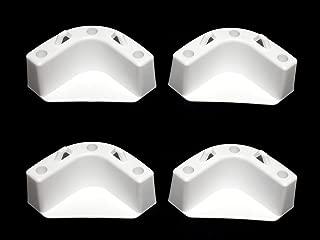 JSP White Boat Marine Cooler Mounting Kit for Yeti Igloo Engle Coleman (Set of 4)