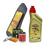 Kit de revisión Castrol 10W40 filtro aceite aire vela Yamah