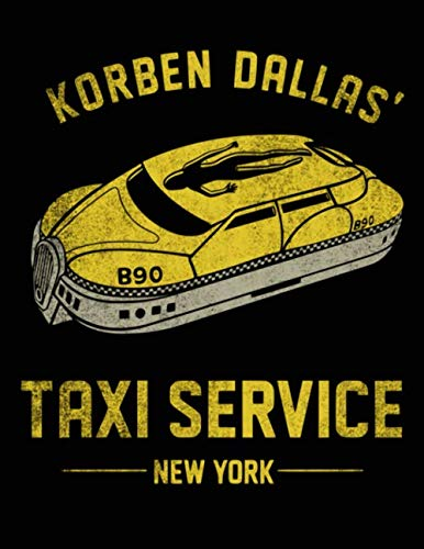 Grid Notebook: Korben Dallas' Taxi Service Themed Gift for Sci-Fi Fans / Quad Ruled - Squared: The perfect notebook to save all your thoughts, ideas, graphs, homeworks and much more!