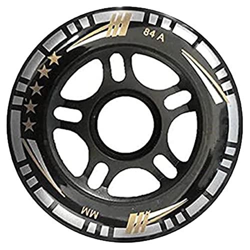 Dagou Paquete de 8 ruedas de 84 mm, ruedas de repuesto de 84 mm, resistentes al desgaste para patines en línea, patines de hockey