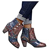 Zieglen Short Rain Boots for Women Women's Short Rain Boots Waterproof Anti Slip Rubber Ankle Chelsea Booties 11 Brown