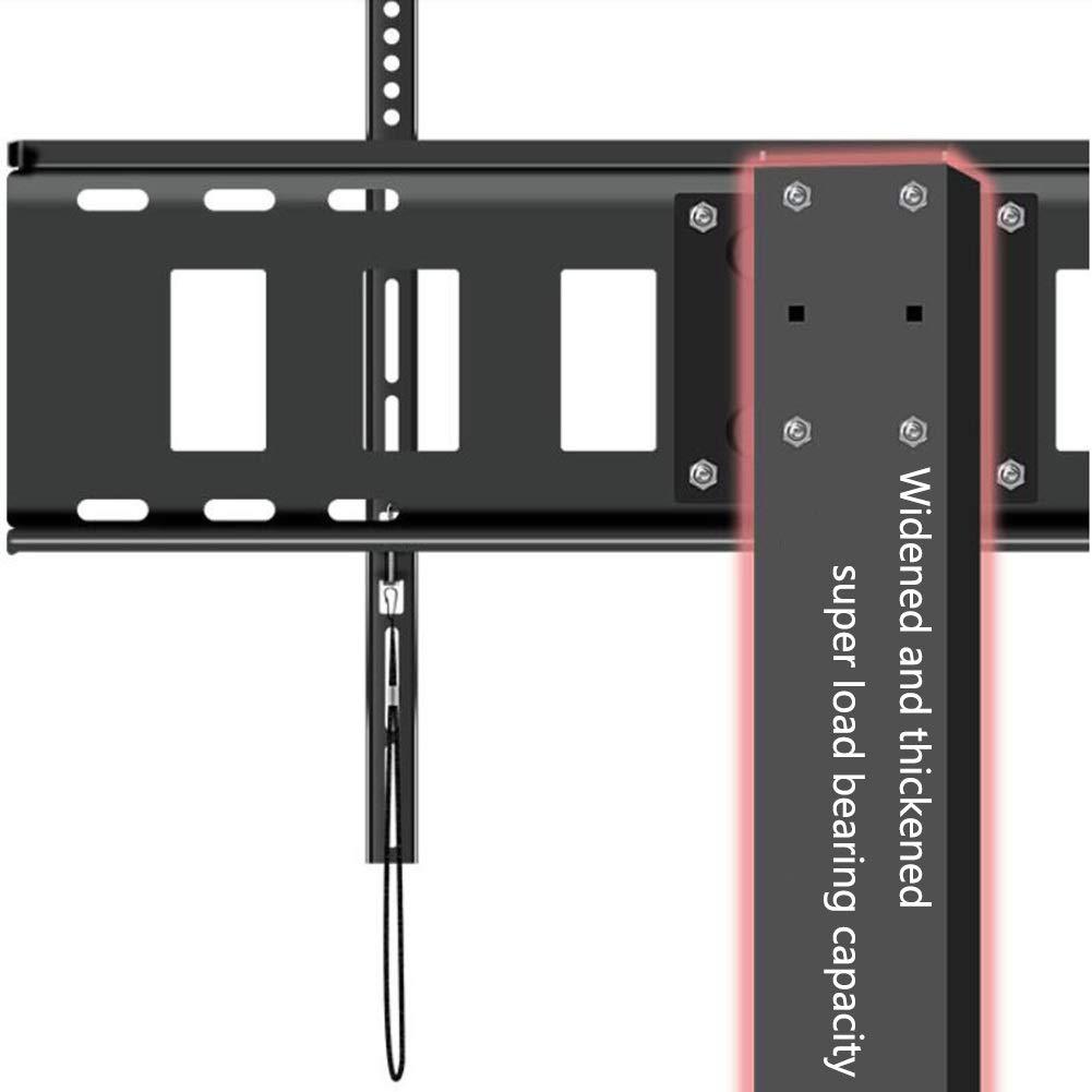 WHSGBB Soporte Móvil de TV de 50 a 80 Pulgadas Soporte Giratorio de Suelo para Televisión Giratorio 360 Grados Altura Ajustable MAX VESA 600x800 mm hasta 80kg de Peso Gestión de Cables:
