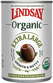 Sponsored Ad - Lindsay Organic Extra Large Pitted Black Ripe Olives, 6 Ounce (Pack of 6)