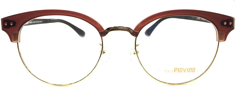 New Piovino Prescription Eyeglasses PV S3001 Brown Metal Ultem Frames