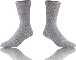 Diabetic Socks, Feelwe Unisex Non Binding Crew Cotton Athletic Socks 1/4/6 Pairs