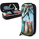 YOLOP Federmäppchen Surf Board Pattern Large Capacity Storage Marker Case Pen Holder,Cosmetic Makeup Bag,Stationery Organizer Pencil Pouch