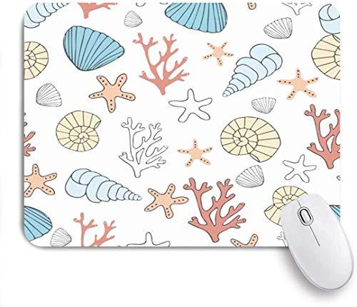 Maus Matte Mauspad aquatisch einfach niedlich Wasser exotische Korallen awaresome Muscheln Aquarium Natur Schnecke maßgeschneiderte Kunst Mauspad rutschfeste Gummibasis für Computer Laptop Schreibtisc