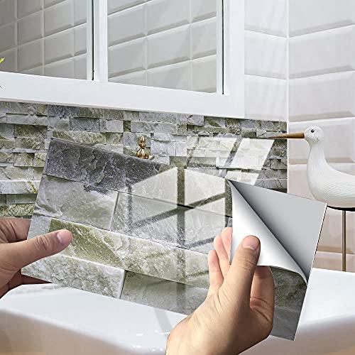 Azulejos Adhesivos Baño Cocina Gris Cian 12 Vinilos Cocina Azulejos Vinilos Para...