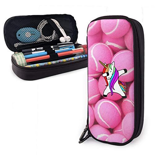 Federmäppchen mit Tennisbällen für Jungen und Mädchen, groß, Pink