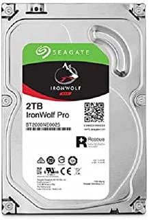 Seagate IronWolf Pro 2TB NAS Internal Hard Drive HDD – 3.5 Inch SATA 6Gb/s 7200 RPM 128MB Cache for RAID Network Attached Storage, Data Recovery Rescue Service (ST2000NE0025)