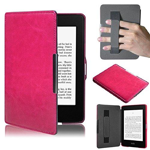 Amison Kindle Paperwhite 5, Smartshell Hülle Case Filz Sleeve für Amazon Neue Kindle Paperwhite 5 (Hot Pink)