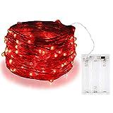 Guirnalda de luces Bolweo de 3m con 30 luces LED, Rojo, 1 pack
